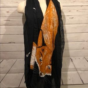 Louche London fox scarf new